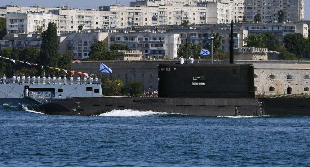 Rostov-on-Don submarine takes part in a parade on Navy Day, file photo.