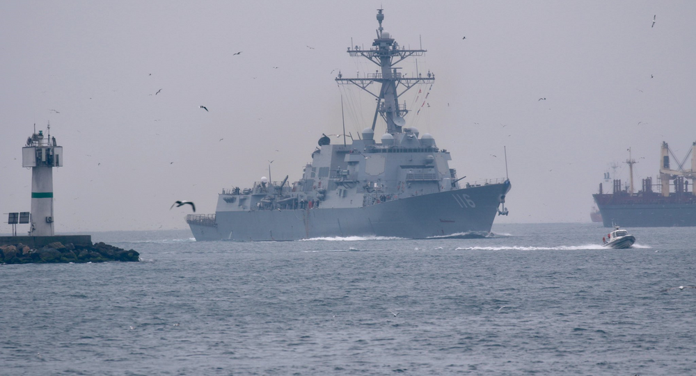 USS Thomas Hudner transits Bosphorus toward the Black Sea. Saturday, March 20, 2021.