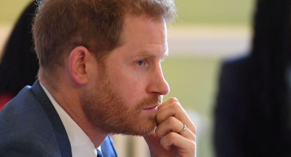 Britain's Prince Harry, Duke of Sussex, attends a roundtable discussion on gender equality with The Queen's Commonwealth Trust (QCT) and One Young World at Windsor Castle, Windsor, Britain October 25, 2019