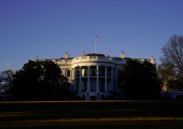 The White House is seen at sunset in Washington, U.S. March 6, 2021.