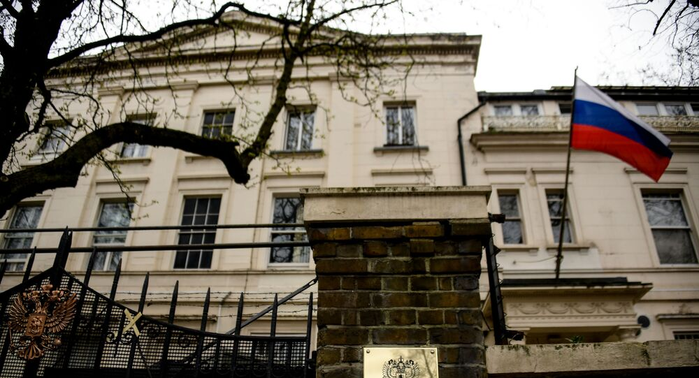 The building of the Russian embassy in London.
