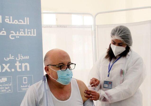Tunisian Health Minister Faouzi Mehdi receives Russia's Sputnik V Vaccine