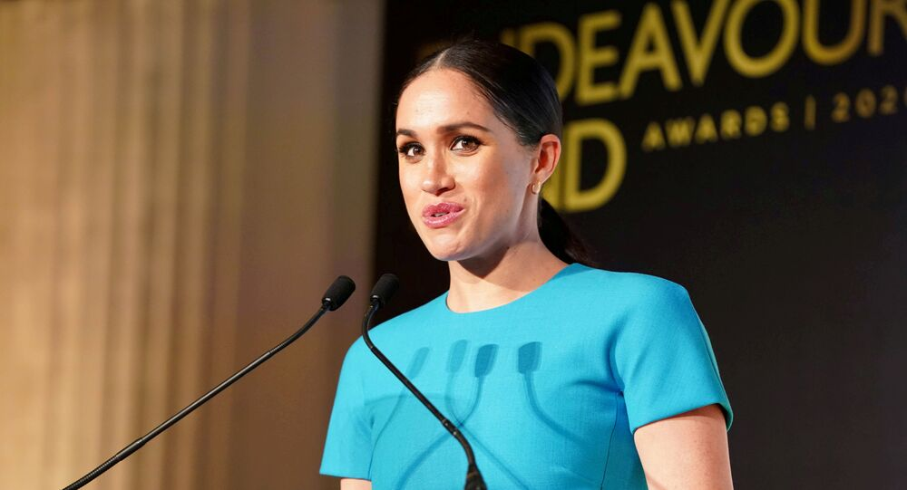 Meghan, Duchess of Sussex, speaks during the annual Endeavour Fund Awards at Mansion House in London, Britain, 5 March 2020