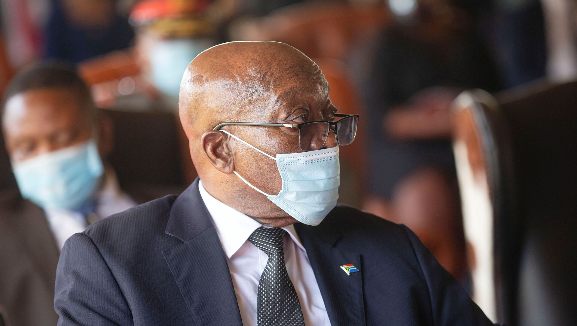 Former South African President Jacob Zuma attends the memorial service for Zulu King Goodwill Zwelithini in Nongoma - Sputnik International, 1920, 17.05.2021