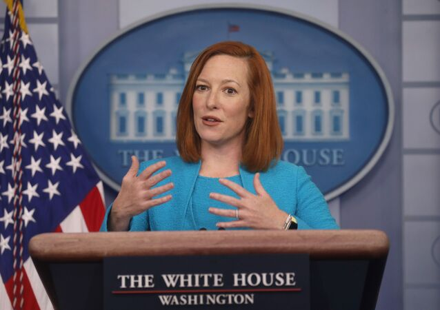 White House Press Secretary Jen Psaki holds a press briefing at the White House in Washington, U.S., March 22, 2021