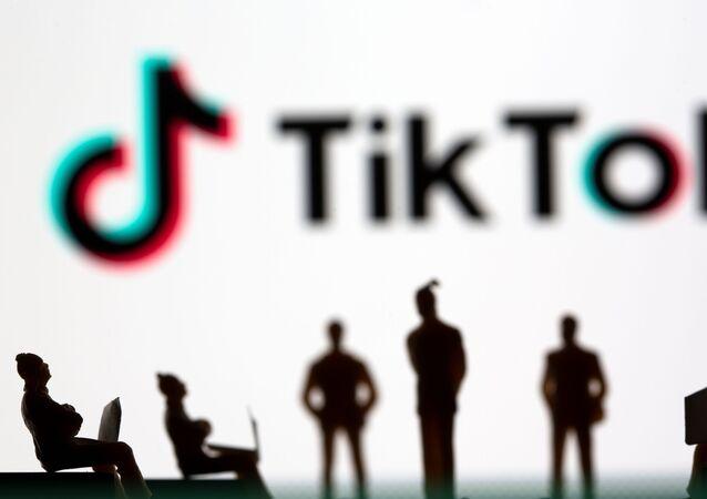 Illustration picture of TikTok logo.