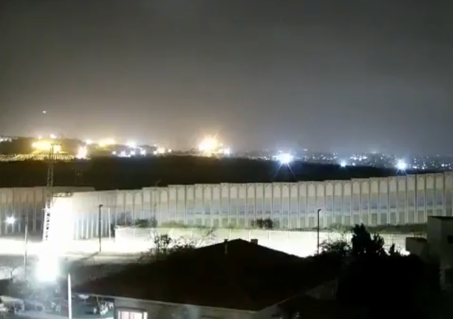 Screenshot from a video allegedly showing a rocket launch in the vicinity of Beersheba, 23 March 2021