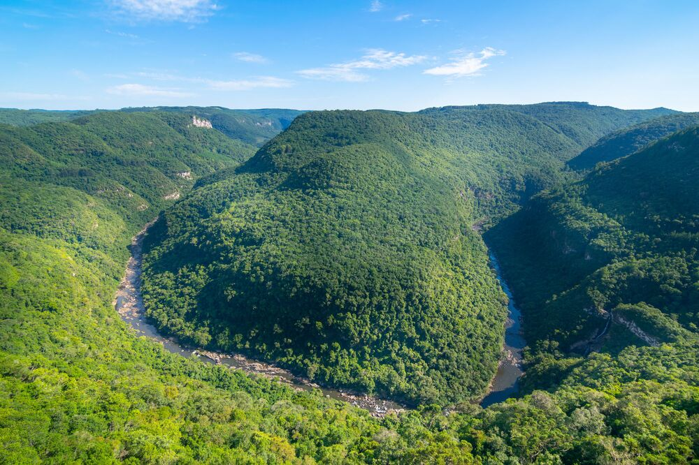 Beautiful view of Horseshoe Valley (Vale da Ferradura) - Rio Grande do Sul, Brazil.
