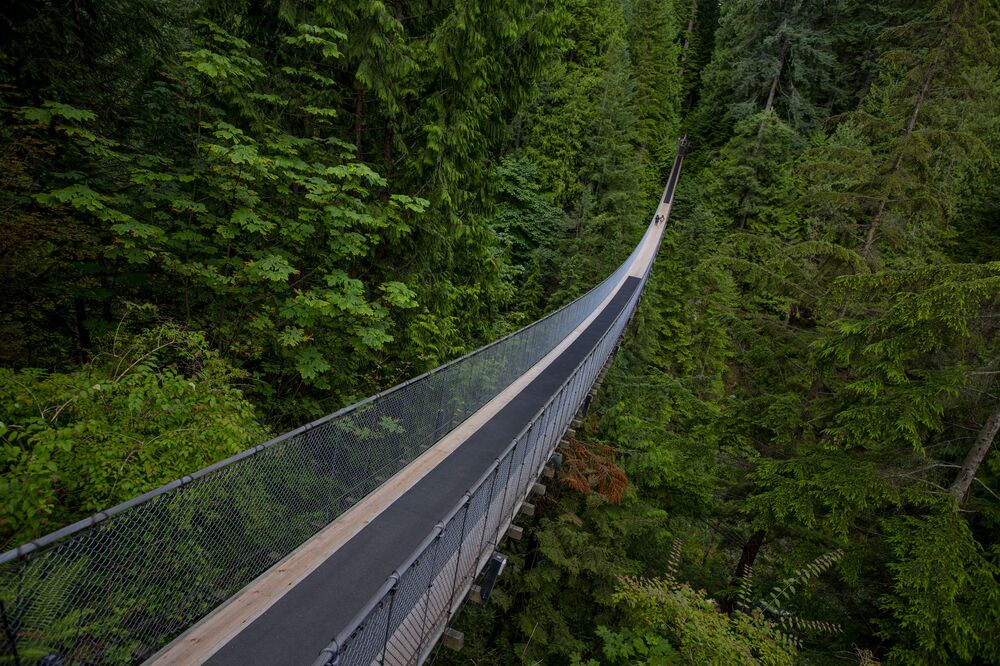 The Capilano Suspension Bridge is one of Canada's most popular attractions.
