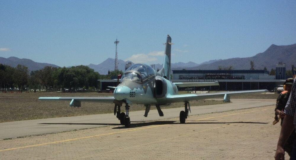 Hongdu JL-8/K-8 jet of the Bolivian Air Force