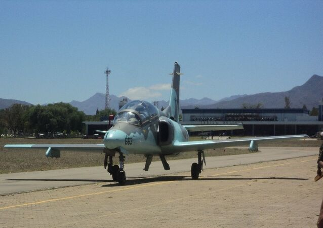 Hongdu JL-8/K-8 jet of the Bolivian Air Force
