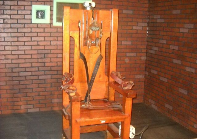 A picture of an electric chair