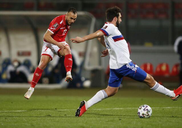 Soccer Football - World Cup Qualifiers Europe - Group H - Malta v Russia - Ta' Qali National Stadium, Attard, Malta - March 24, 2021  Malta's Teddy Teuma