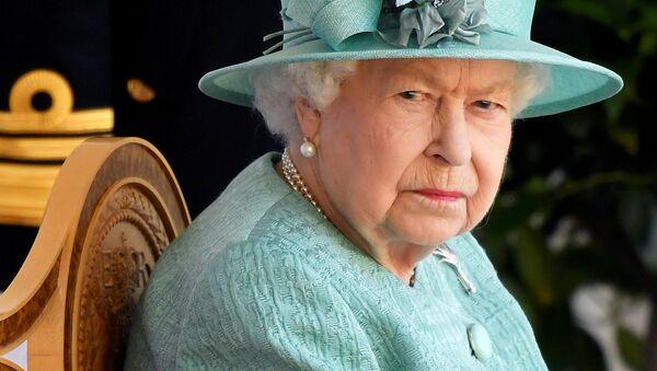 Britain's Queen Elizabeth attends a ceremony to mark her official birthday at Windsor Castle in Windsor, Britain, June 13, 2020 - Sputnik International