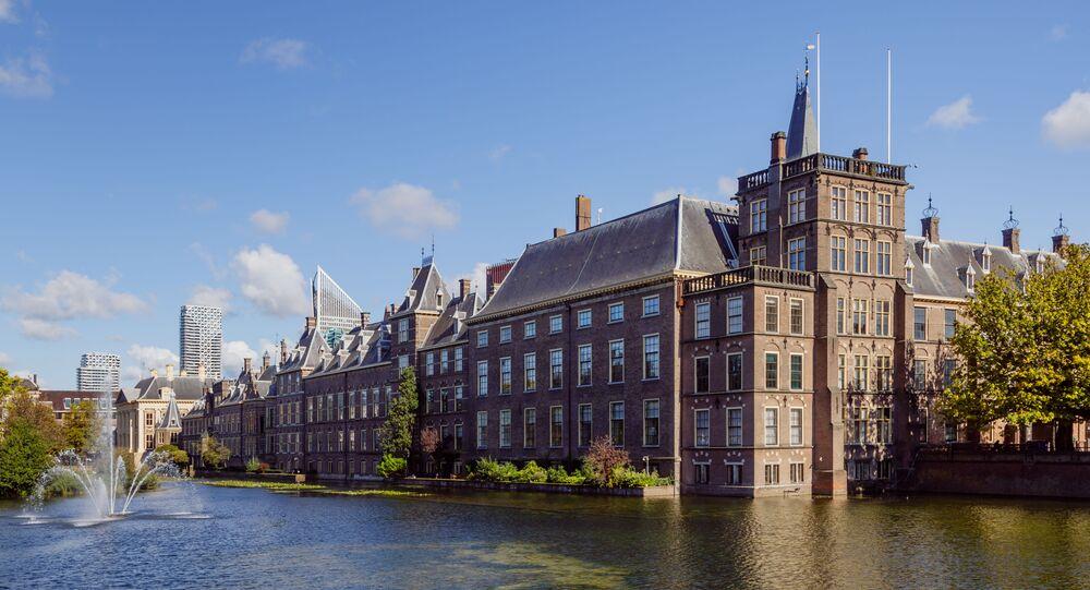 The Hague, The Netherlands: Binnenhof and Hofvijver