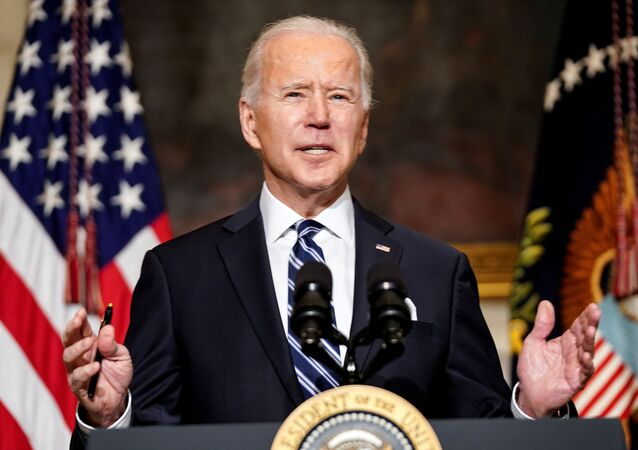 U.S. President Joe Biden delivers remarks on tackling climate change prior to signing executive actions in the State Dining Room at the White House in Washington, U.S., January 27, 2021