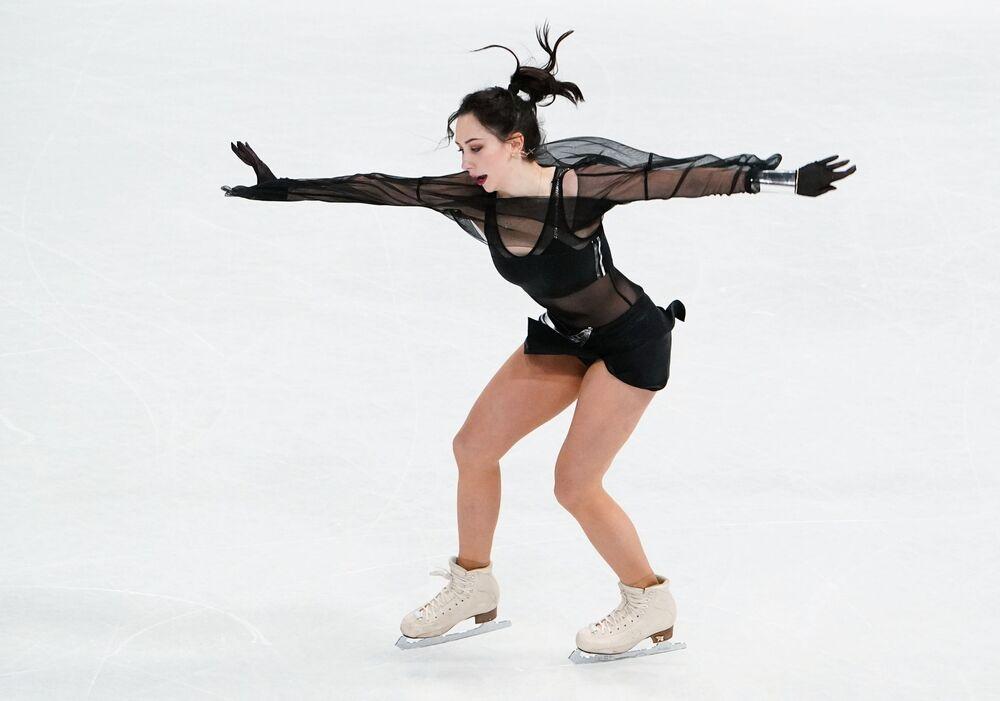Elizaveta Tuktamysheva of Russia in women single's short programme.
