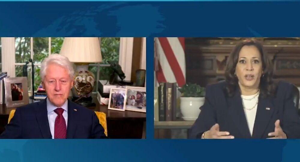 Kamala Harris discusses the American Rescue Plan with Joe Biden