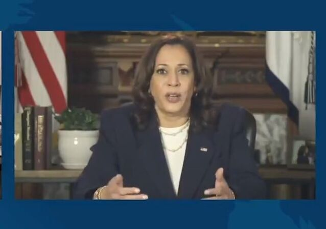 Kamala Harris discusses the American Rescue Plan with Joe Biden