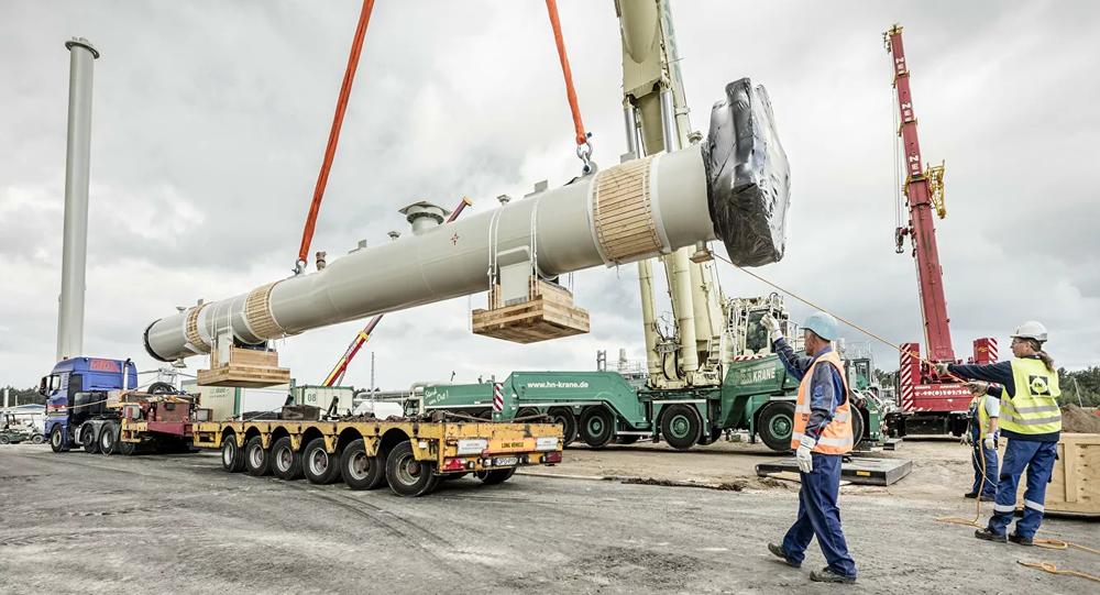 Work on Nord Stream 2 Pipeline.