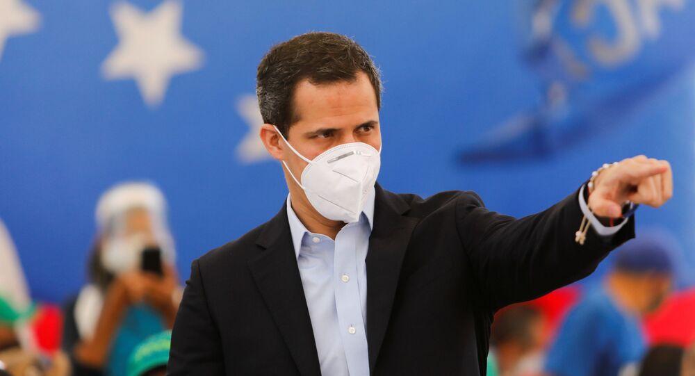 Venezuelan opposition leader Juan Guaido attends a news conference in Caracas, Venezuela March 3, 2021.