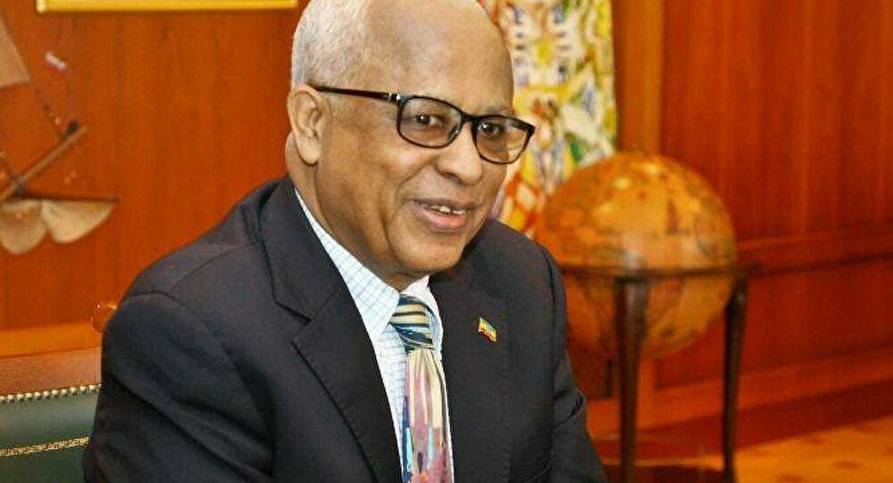 Ethiopian Ambassador to Russia Alemayehu Tegenu Aargau