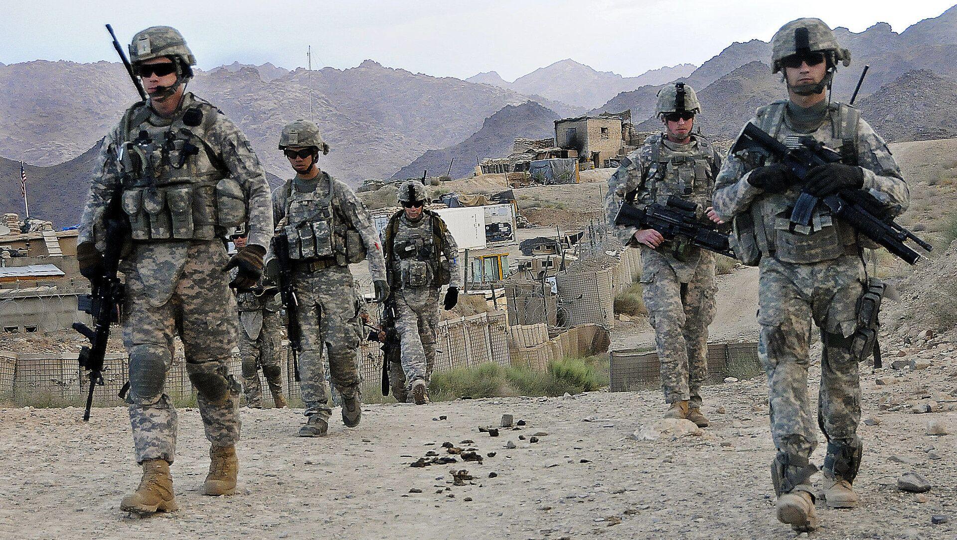 U.S. Soldiers depart Forward Operating Base Baylough, Afghanistan - Sputnik International, 1920, 30.07.2021