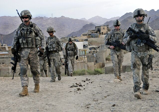 U.S. Soldiers depart Forward Operating Base Baylough, Afghanistan
