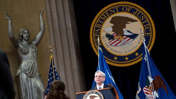 U.S. Attorney General Merrick Garland addresses staff on his first day at U.S. Department of Justice in Washington, DC, U.S. March 11, 2021.  - Sputnik International