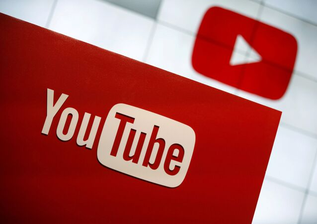 YouTube logo at the YouTube Space LA in Playa Del Rey, Los Angeles, California, United States October 21, 2015