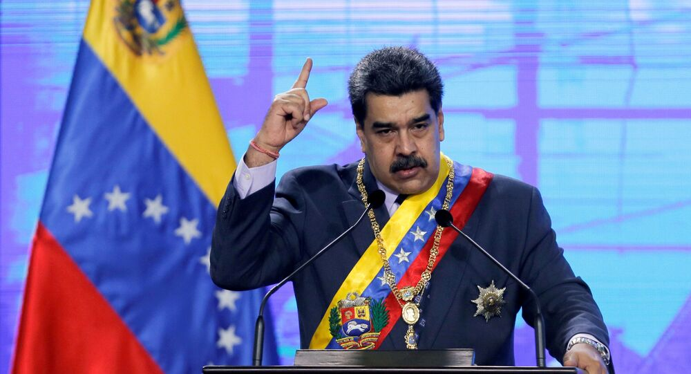 Venezuela's President Nicolas Maduro speaks during a ceremony in Caracas, Venezuela January 22, 2021