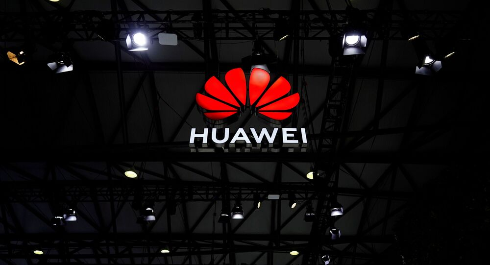 A Huawei logo is seen at the Mobile World Congress (MWC) in Shanghai, China, 23 February 2021