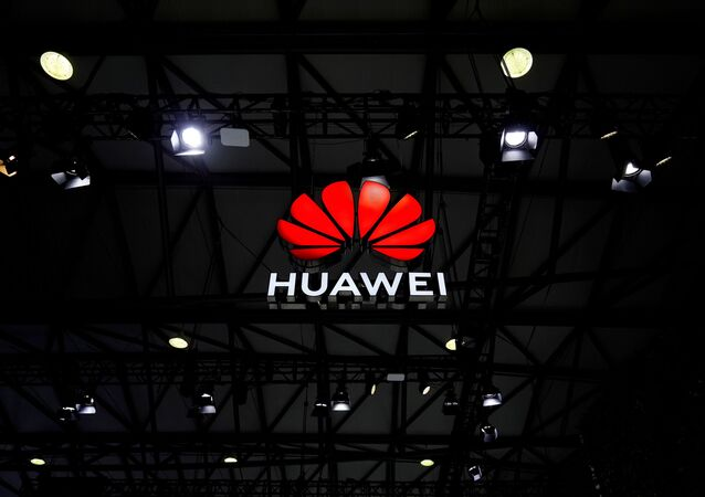 A Huawei logo is seen at the Mobile World Congress (MWC) in Shanghai, China, 23 February 2021.