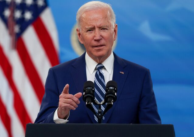 U.S. President Joe Biden delivers remarks on the White House campus in Washington, U.S., March 29, 2021.