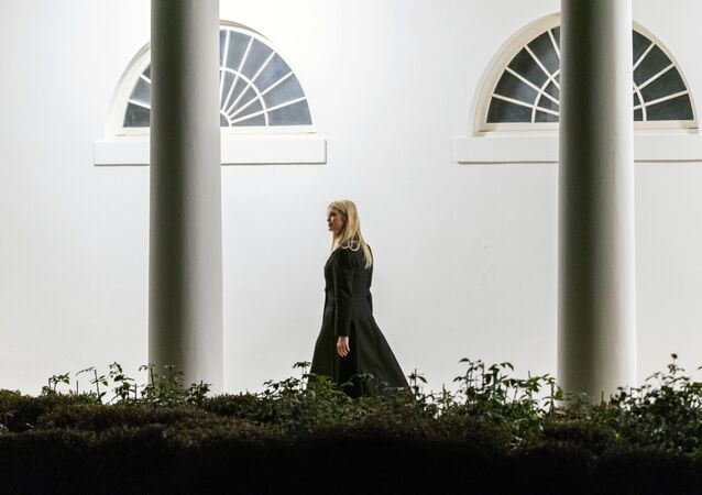 Ivanka Trump, the daughter of President Donald Trump, walks along the Colonnade toward the West Wing as she arrives in the early morning hours at the White House in Washington, Tuesday, Jan. 5, 2021, after returning with the president from a rally in Dalton, Ga.