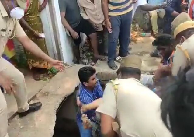 Five women who had come to take part in the road show of Union Home Minister Amit Shah in Puducherry fell into a drain and sustained injuries after a slab on which they were standing collapsed.