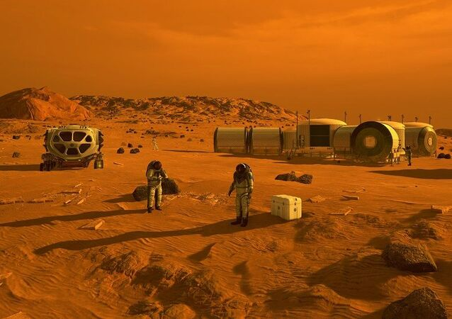 First Humans on Mars (Artist's Concept)
