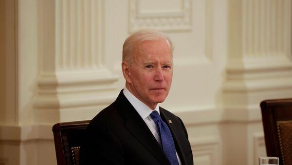 U.S. President Joe Biden holds first Cabinet meeting at the White House in Washington, U.S., April 1, 2021. - Sputnik International