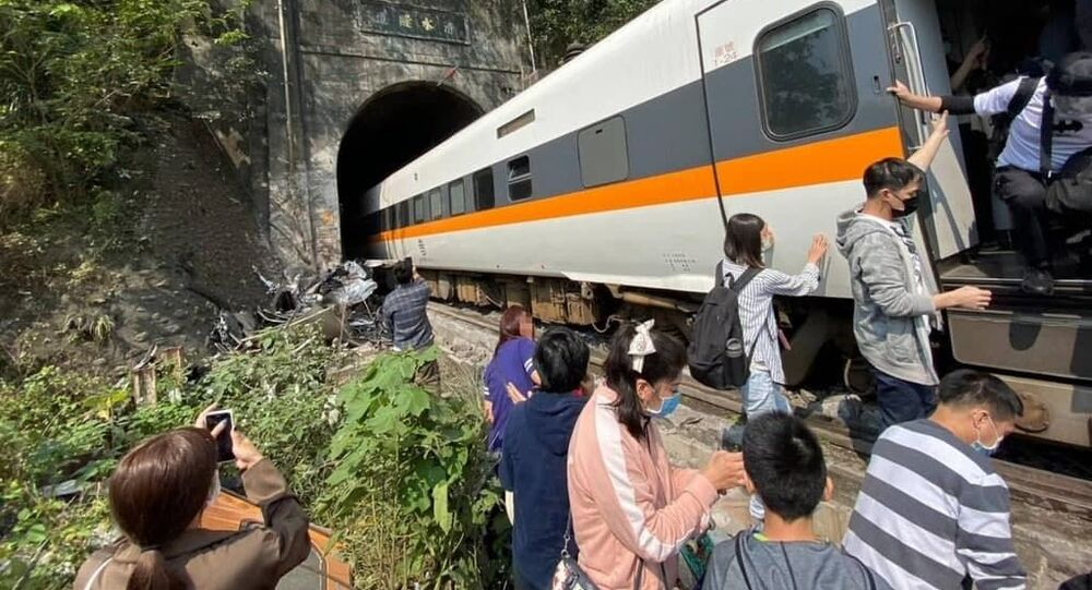Two cars of a passenger train have derailed in Taiwan, leaving one person dead and two more injured, the Central News Agency reported on April 2, 2021.
