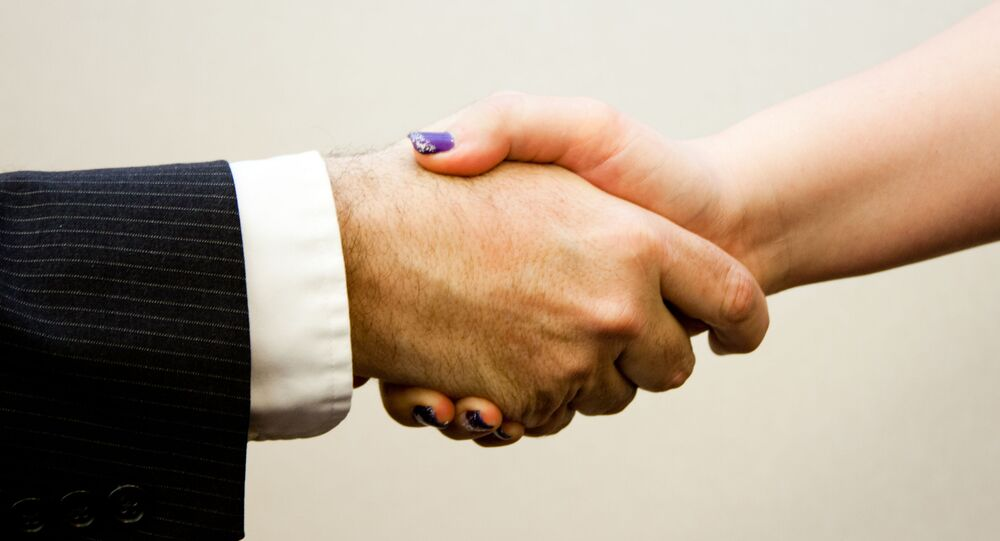 Handshake man - women