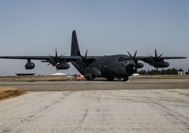 US Military Transport Aircraft C-130J Spotted in Kiev