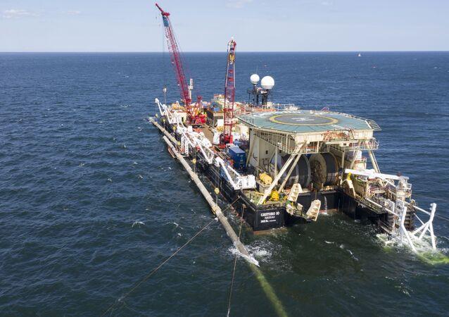 Nord Stream 2 Vessel Castoro 10 doing a AWTI in the Baltic Sea close to Ruegen (11.08.19)