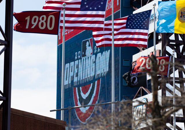 Apr 1, 2021; Philadelphia, Pennsylvania, USA; General view of the scoreboard before an opening day game between the Philadelphia Phillies and the Atlanta Braves at Citizens Bank Park