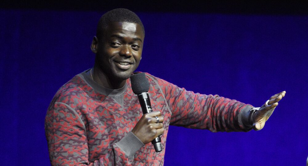 Daniel Kaluuya, a cast member in the upcoming film Queen & Slim, speaks during the Universal Pictures presentation at CinemaCon 2019, the official convention of the National Association of Theatre Owners (NATO) at Caesars Palace, 3 April 2019, in Las Vegas