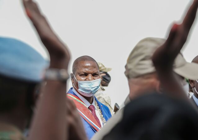 Central African President Faustin-Archange Touadera is seen after  his investiture ceremony for his second term in Bangui, Central Africa Republic March 30, 2021.