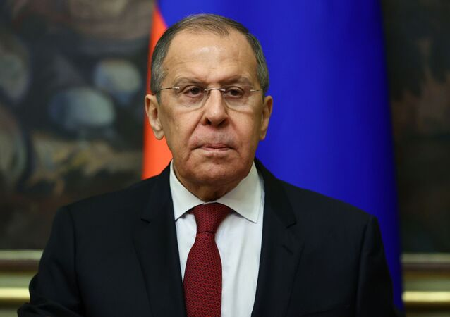 Russia's Foreign Minister Sergei Lavrov attends a meeting with his counterpart from Turkmenistan Rashid Meredov in Moscow, Russia April 1, 2021.