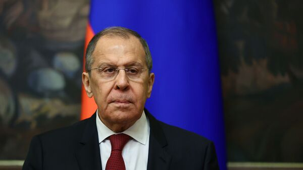 Russia's Foreign Minister Sergei Lavrov attends a meeting with his counterpart from Turkmenistan Rashid Meredov in Moscow, Russia April 1, 2021. - Sputnik International