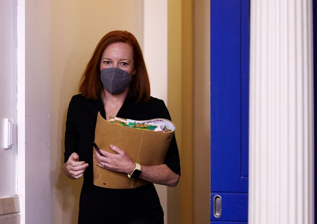 White House Press Secretary Jen Psaki arrives for the daily press briefing at the White House in Washington, U.S. March 30, 2021