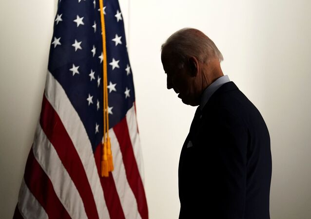 U.S. President Joe Biden departs the room after speaking about jobs and the economy at the White House in Washington, U.S., April 7, 2021.