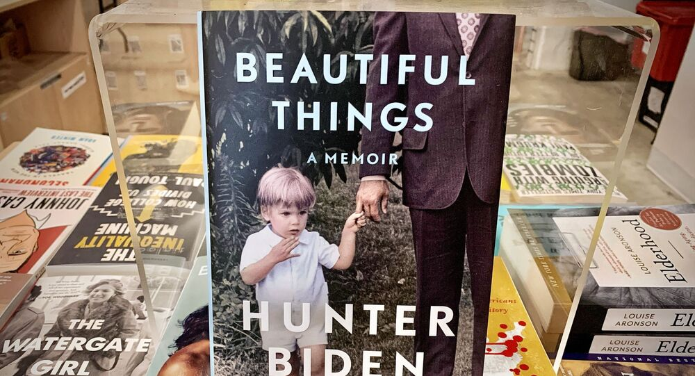 The memoir published by Hunter Biden, Beautiful Things, A Memoir is seen in a book store on its release day in Washington, DC on 6 April 2021. - In an interview with the BBC released April 6, 2021 -- to mark the publication of his new memoir, Beautiful Things -- Hunter Biden confirmed in part allegations by Republicans that he benefited from his family name when his father was vice president.